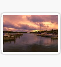 """Dawn at Charlevoix Marina"" Sticker"