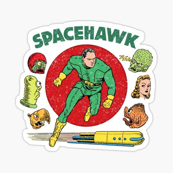 Spacehawk Vintage Art Sticker