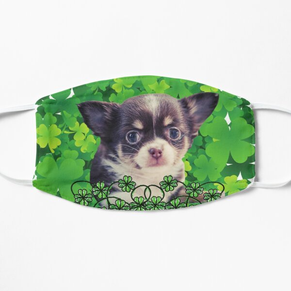 Happy Patty's Day Chi Pup Bunch of Clover Mask