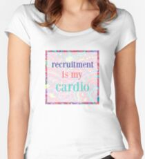 recruitment is my cardio Women's Fitted Scoop T-Shirt