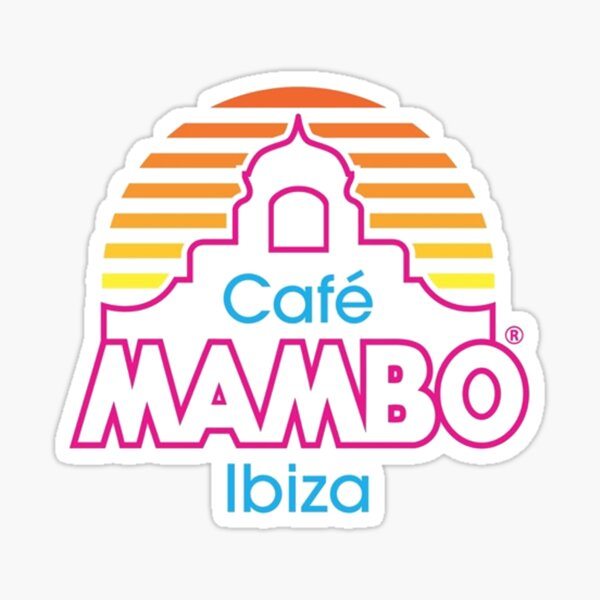 Café Mambo Ibiza Pegatina