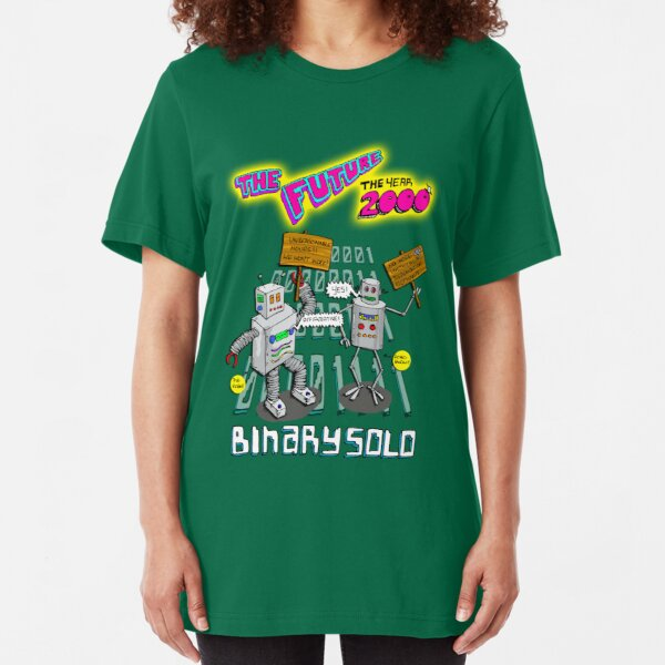 Flight of the Conchords - Binary Solo - Robots 2 Slim Fit T-Shirt