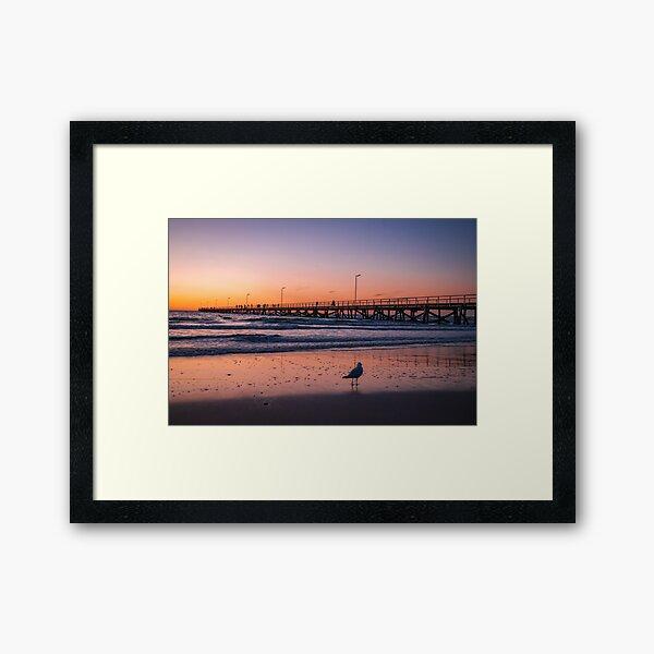 Semaphore sunset Framed Art Print