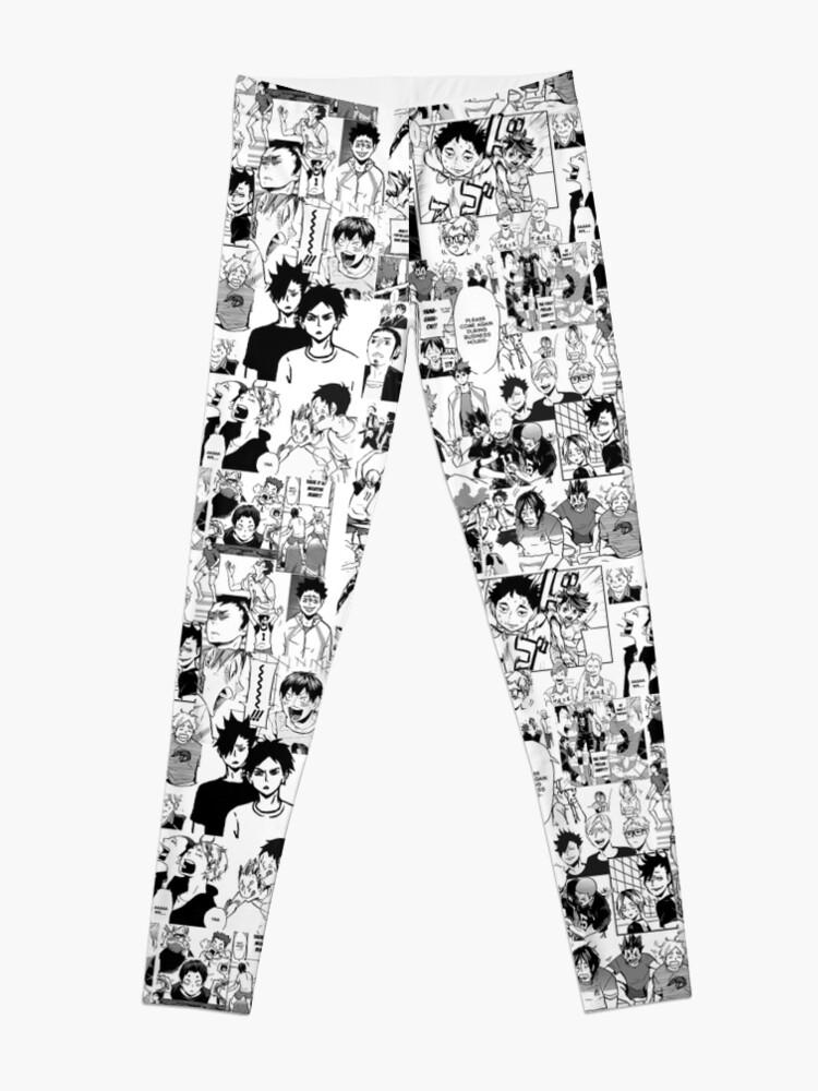 Alternate view of Haikyuu!! - Manga Collage Leggings