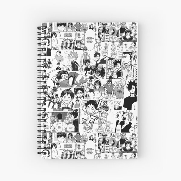Haikyuu!! - Manga Collage Spiral Notebook