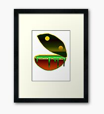 puking pacman Framed Print