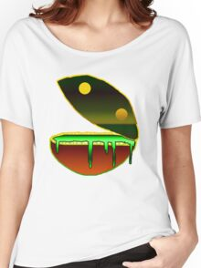 puking pacman Women's Relaxed Fit T-Shirt