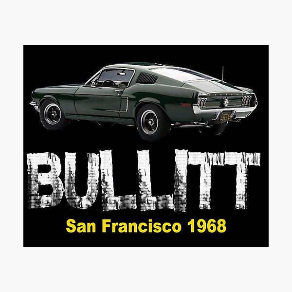 Klassisches amerikanisches Auto Bullitt Mustangs Fotodruck
