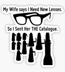 Getting New Lenses Sticker