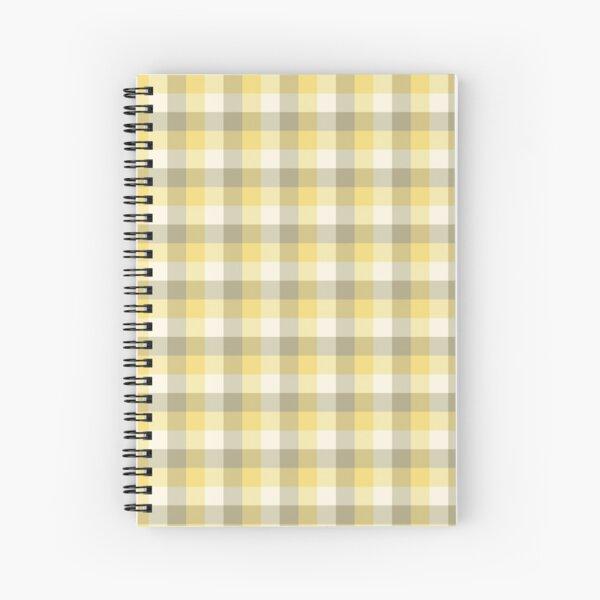 Yellow Tartan Spiral Notebook