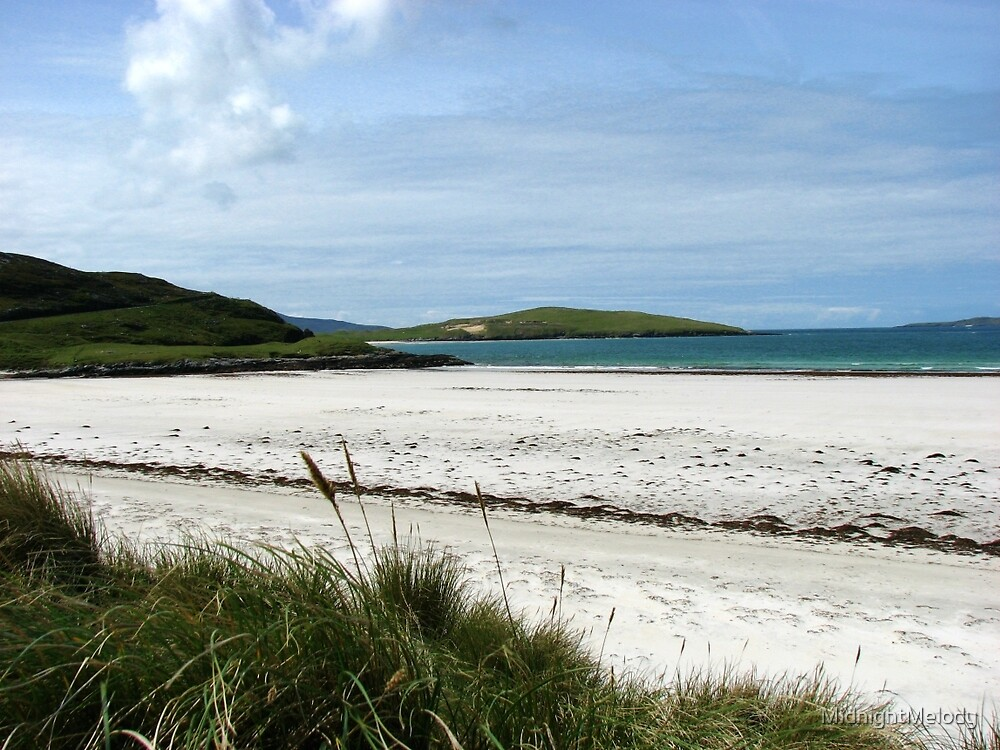 White Sands and Blue Sky - Seilebost Beach by MidnightMelody