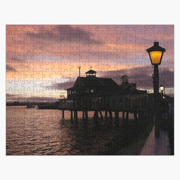 #Evening #view from the #waterfront at Seaport Village, San Diego, #California. #SeaportVillage #SanDiego #EveningView Jigsaw Puzzle