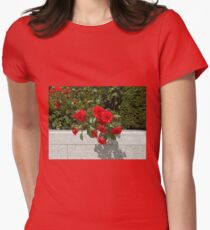 Soft and Gentle Red Roses - Quintessentially Lancashire Womens Fitted T-Shirt
