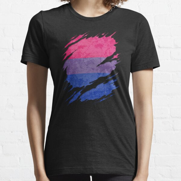 Bisexual Pride Flag Ripped Reveal Essential T-Shirt