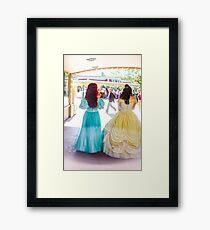 princess walks Framed Print