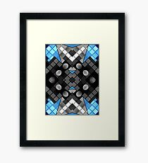 Blue Black Vector Abstract Pattern  Framed Print