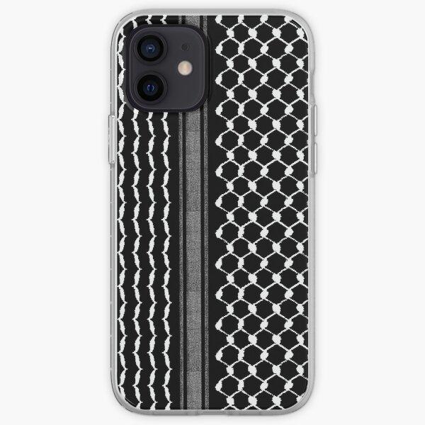 Palestinian Traditional Hatta Kufiya Folk Pattern New Freedom Iconic Design - wht iPhone Soft Case
