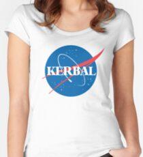 Kerbal Space Program NASA logo (large) Women's Fitted Scoop T-Shirt