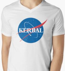 Kerbal Space Program NASA logo (large) Men's V-Neck T-Shirt