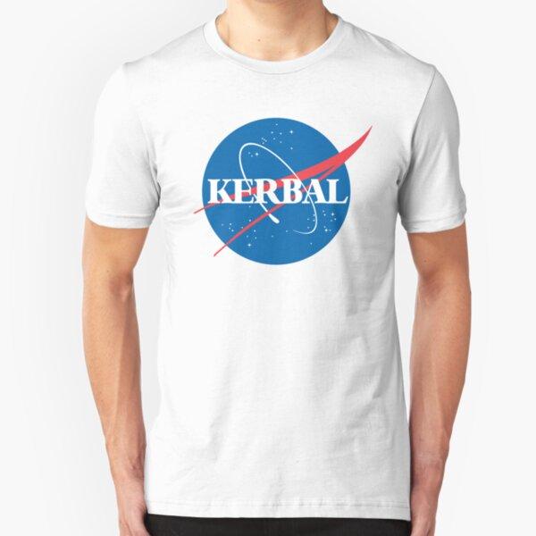 Kerbal Space Program NASA logo (large) Slim Fit T-Shirt