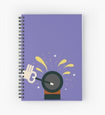 Magician with magical wand Spiral Notebook