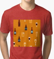 Craft beer glass and bottle icons Tri-blend T-Shirt