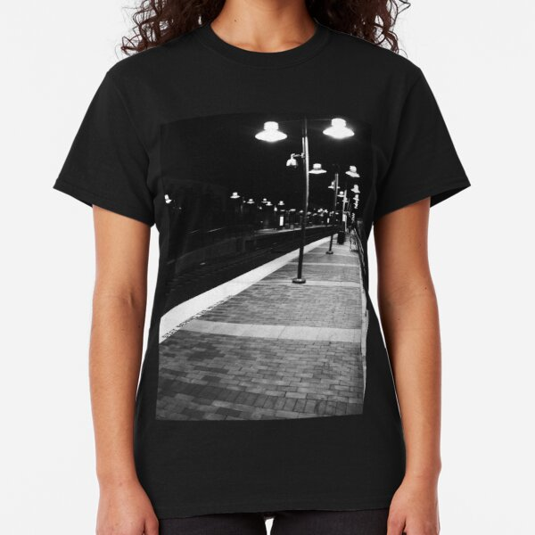 Mission Train Station, Night Classic T-Shirt