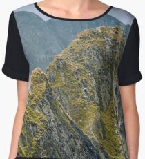 Mountain landscape Women's Chiffon Top