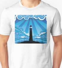 Lighthouse in the Sea 4 T-Shirt