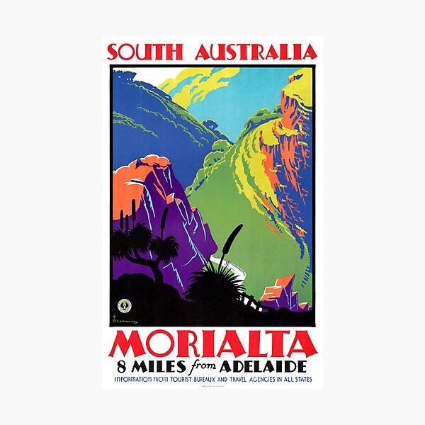 South Australia Morialta Vintage Travel Poster Photographic Print