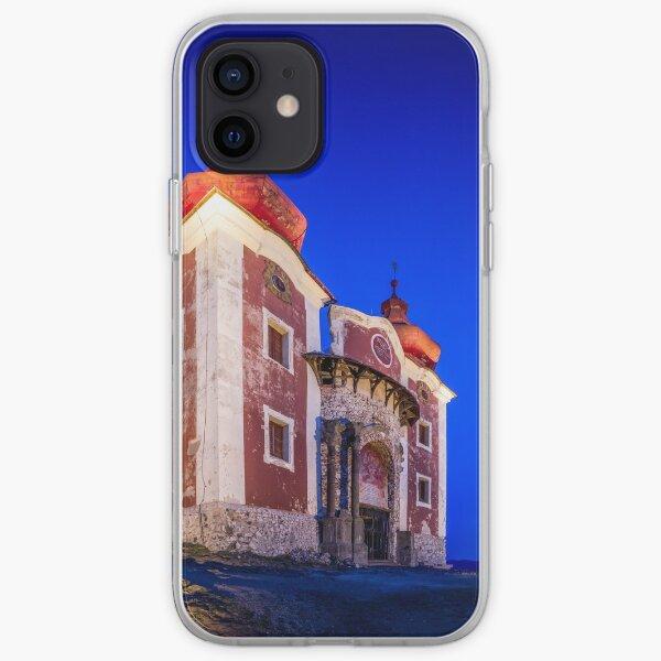 Calvary In Banska Stiavnica at night iPhone Soft Case