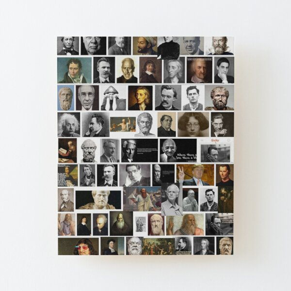 Philosophers Wood Mounted Print