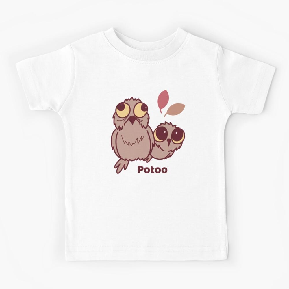 Cute Potoo Bird Pattern  Kids T-Shirt