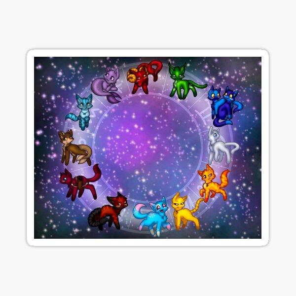 Astrology Cats Sticker