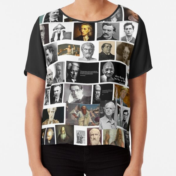 Political Poster, Philosophers Chiffon Top
