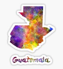 Guatemala  in watercolor Sticker