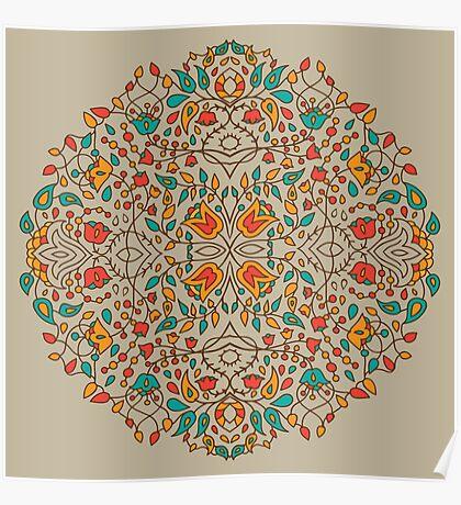 - Oriental flower pattern - Poster