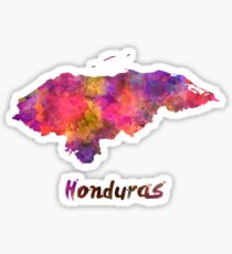 Honduras  in watercolor Sticker