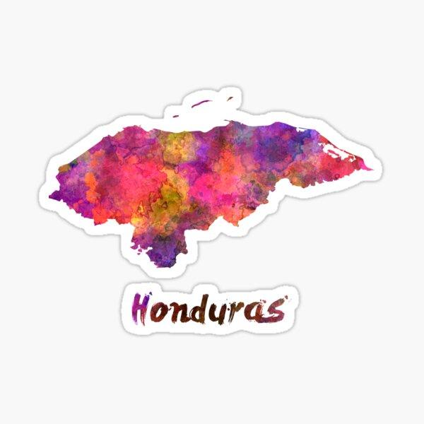 Honduras en acuarela Pegatina