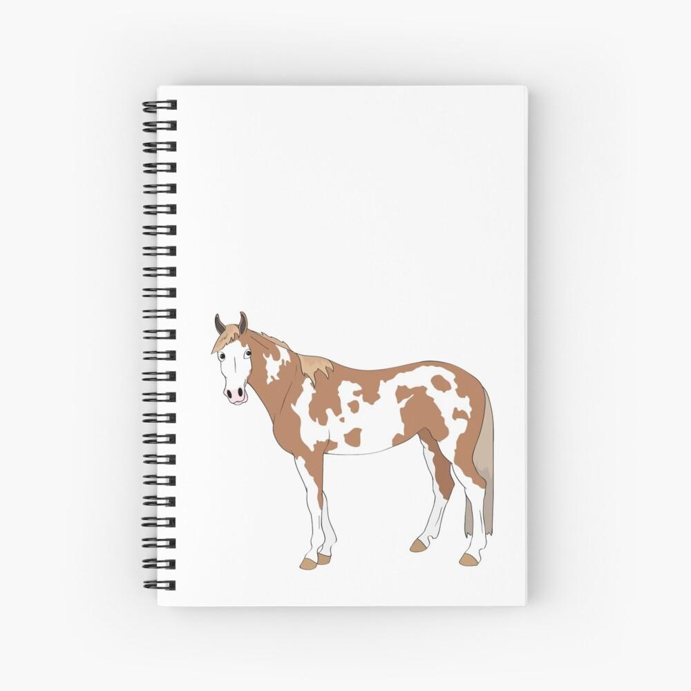 Cartoon of Tonto the paint gelding Spiral Notebook