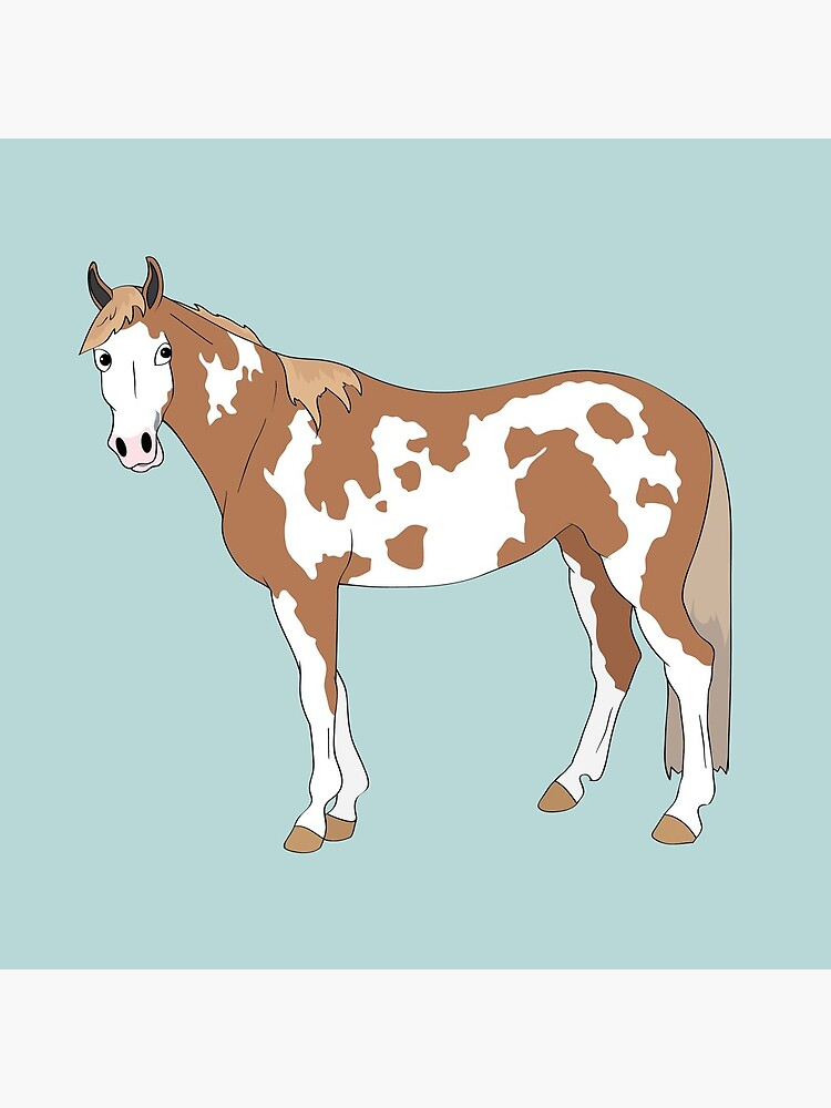 Cartoon of Tonto the paint gelding by Talesofthetrail