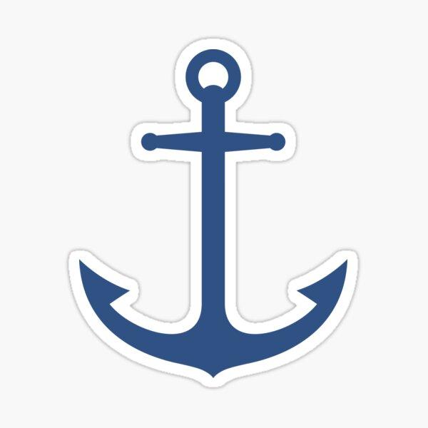 Elegant, dark blue anchor sticker Sticker