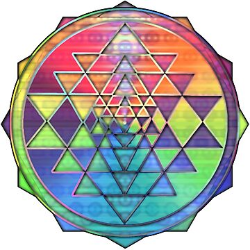 Psychedelic Rainbow Sri Yantra for Prosperity by shylolove
