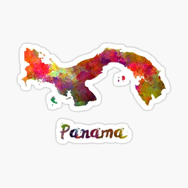 Panamá en acuarela Pegatina