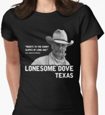 The Sunny Slopes of Long Ago - Lonesome Dove Fitted T-Shirt