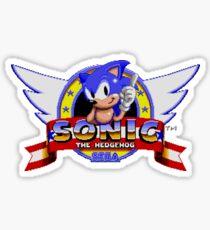 Sonic retro logo Sticker