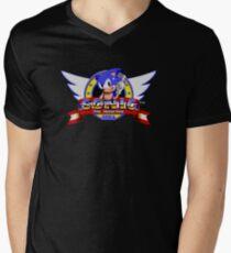 Sonic retro logo Men's V-Neck T-Shirt