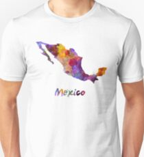 Mexico in watercolor Unisex T-Shirt
