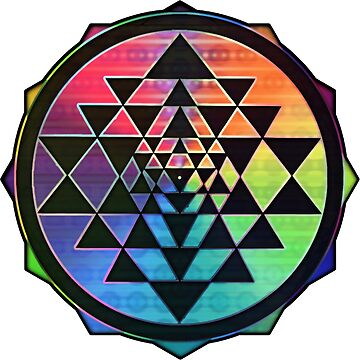 Rainbow Sri Yantra for Love & Wealth by shylolove