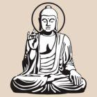 Young Buddha (black white) by Mystic-Land